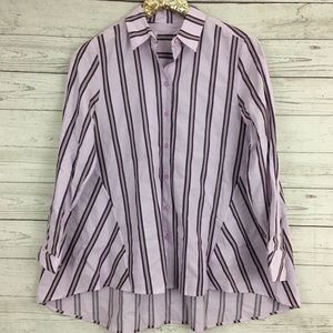 Nordstrom Signature striped oversized tent shirt